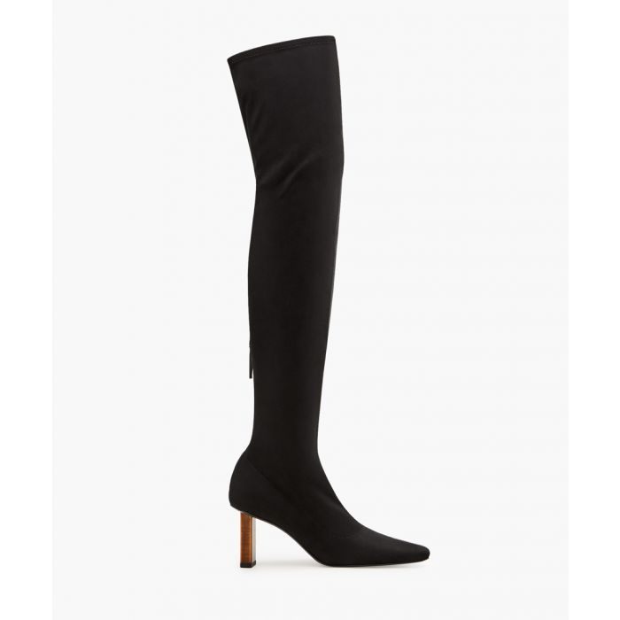 Image for Black geometric heel stocking boots