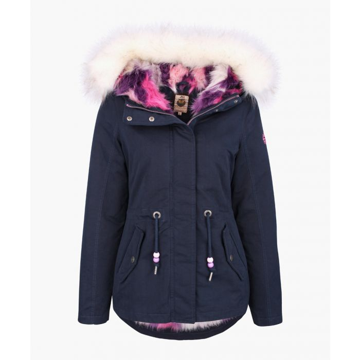 Image for Marine faux fur hooded coat