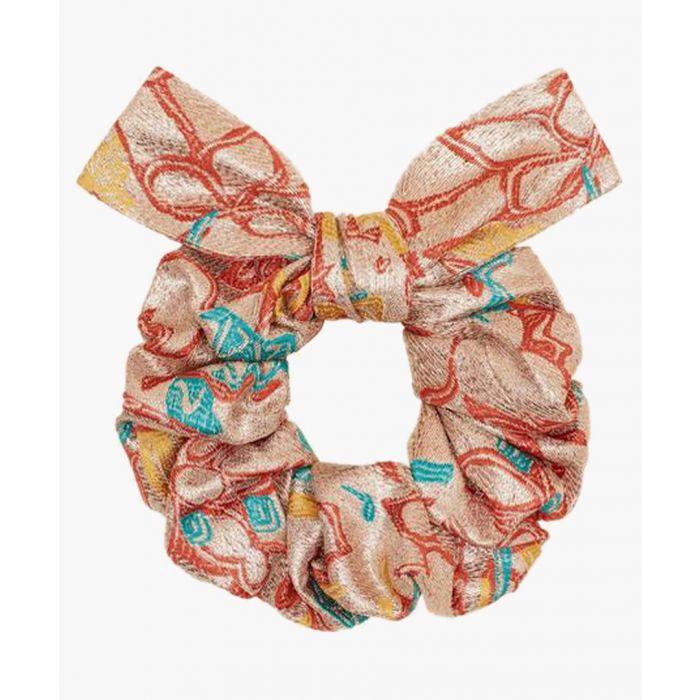 Image for Multi-coloured silk blend scrunchie