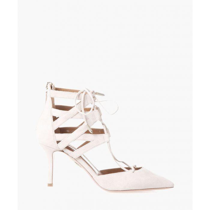 Image for Belgravia nude suede strappy heels