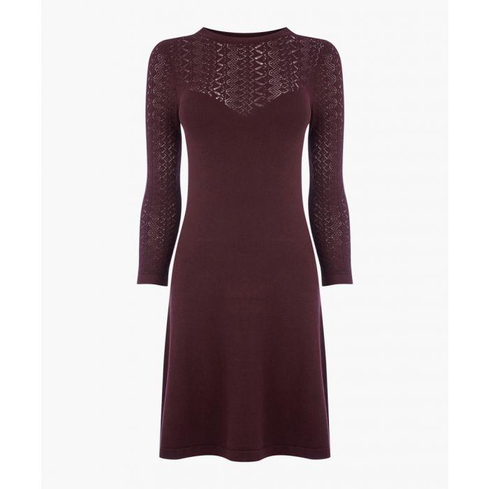 Image for Berry Pretty Stitch Yoke Knit Dress