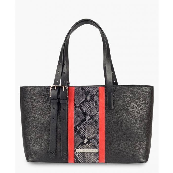 Image for Stripe East/West Dean multi-coloured leather tote
