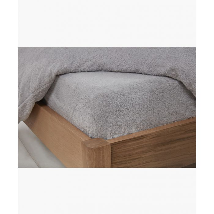 Image for Grey single teddy fitted sheet