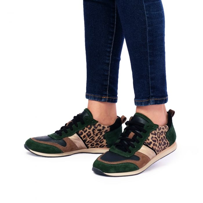 Image for Leopard printed low-top trainers