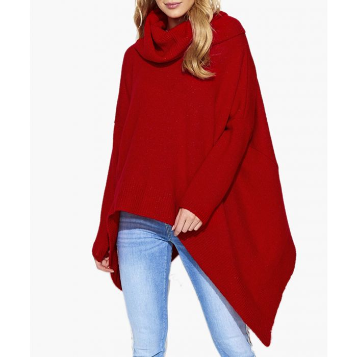 Image for Red Mohair & Wool Blend Knitted Sweater