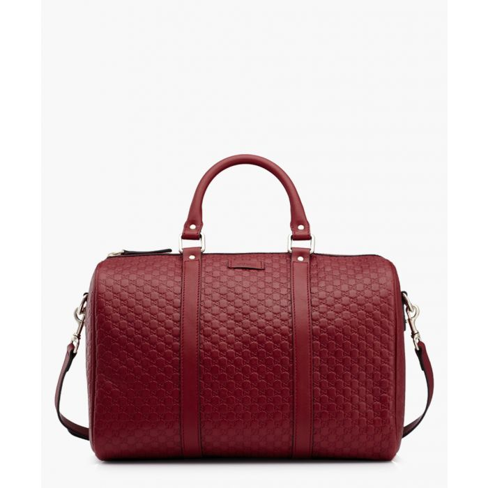 Image for Nice red Microguccissima leather Boston bag