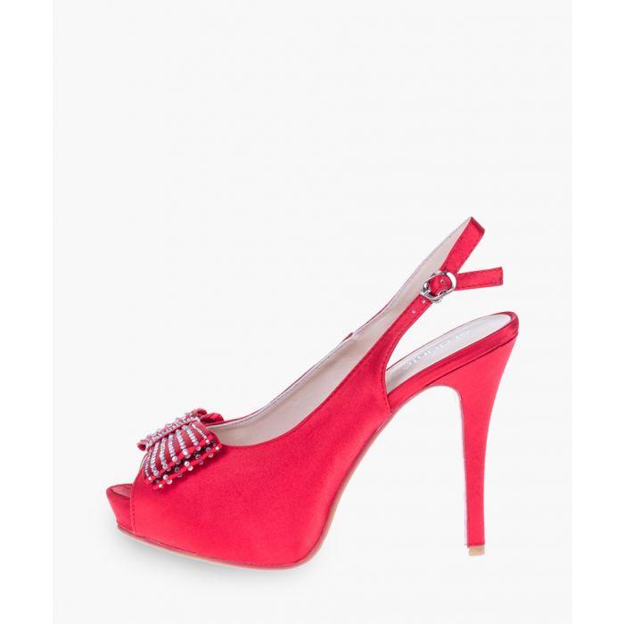 Image for Red slingback peep toe heels