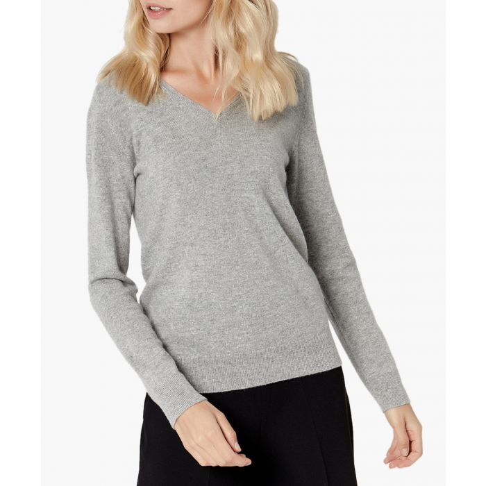 Image for Silver melange pure cashmere jumper