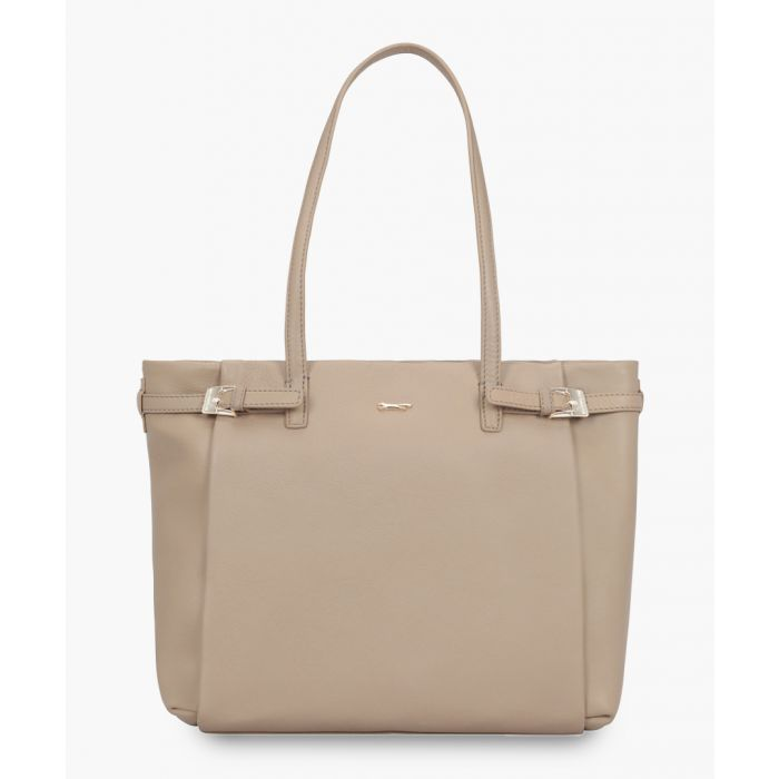 Image for Otranto brown leather shopper
