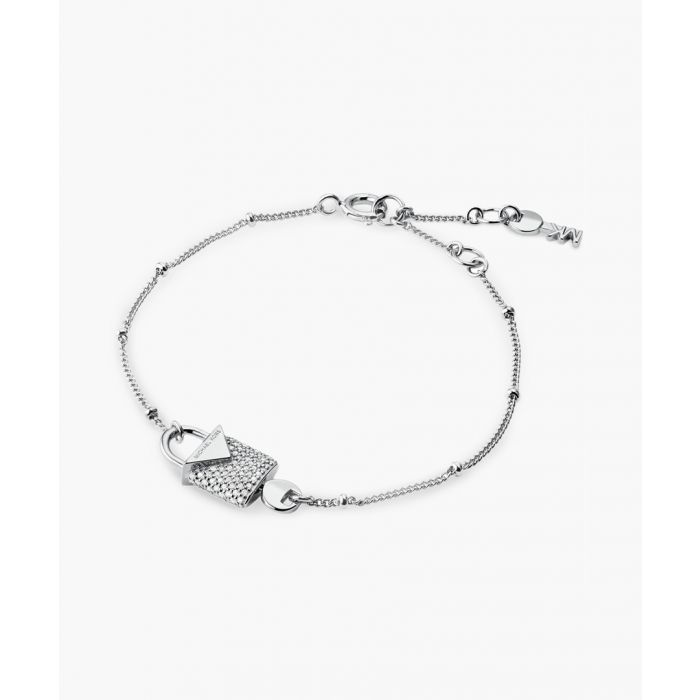 Image for Silver-plated cubic zirconia necklace