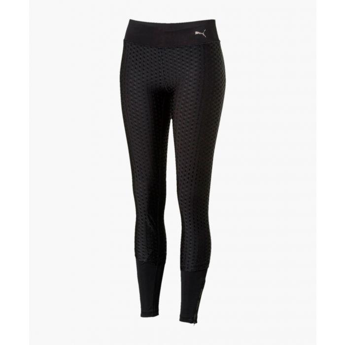 Image for Luxe black mesh tight leggings