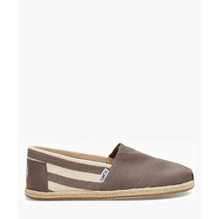 Image for Alpargata grey canvas shoes