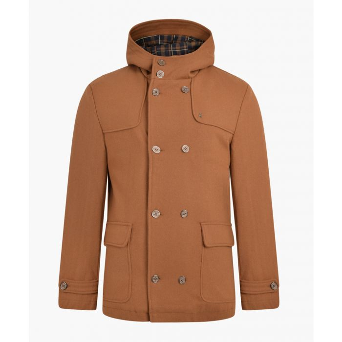 Image for Toffee wool blend duffle coat
