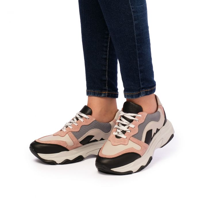 Image for Womens multi coloured  leather chunky sneakers
