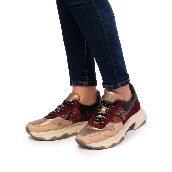 Image for Womens multi coloured metallic chunky sneakers