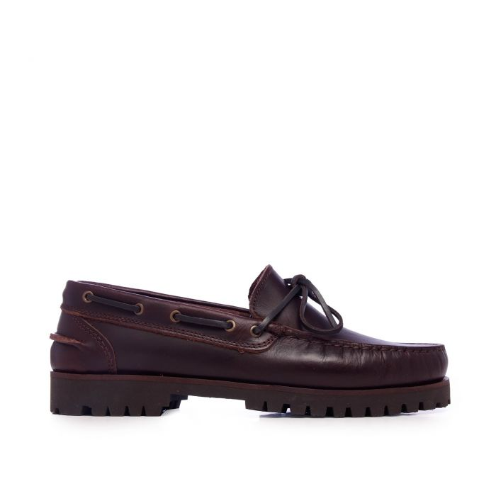 Image for Castellanisimos Classic Leather Boat Shoes Men Brown