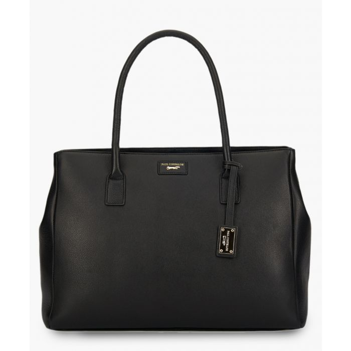 Image for Hadley black leather shopper