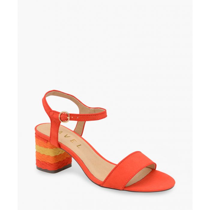 Image for Red rainbow heel sandals
