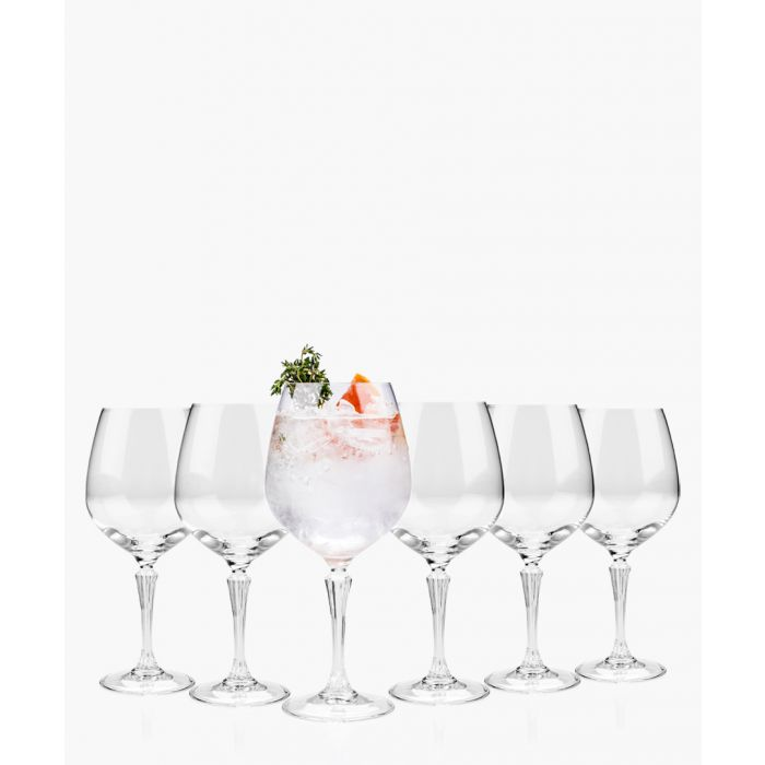 Image for 6pc Glamour burgundy balloon gin glasses