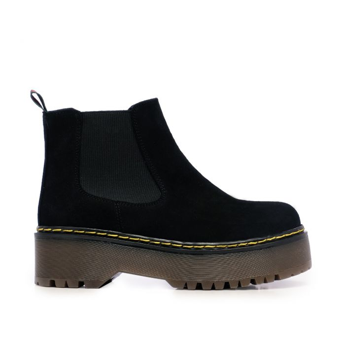 Image for Maria Barcelo Chelsea Leather Boots Women Black