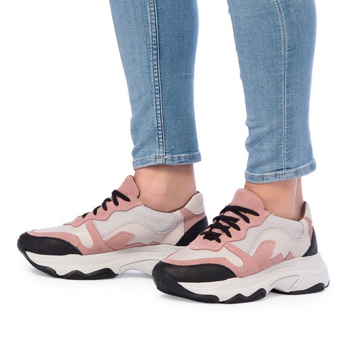 Image for Maria Barcelo Sneaker Alta Piel Rosa Mujer