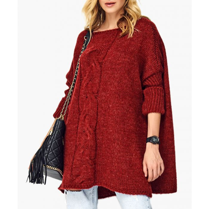 Image for Beetroot wool blend knitted sweater