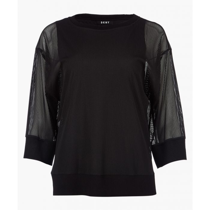 Image for Black crew neck top