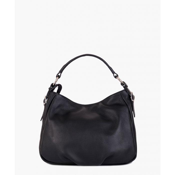 Image for Noemi 1 black leather shoulder bag