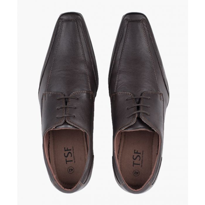 Image for Brown chiselled toe Derby shoes