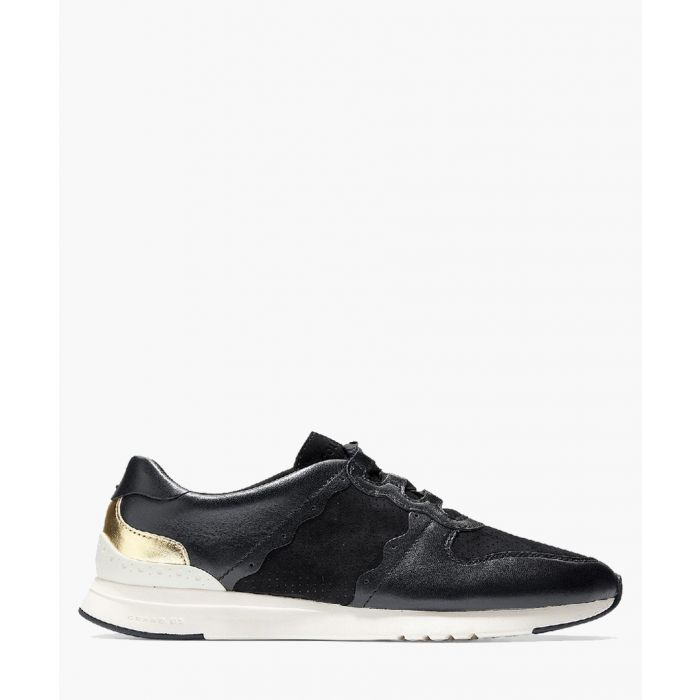 Image for Womens black and gold-tone trainers