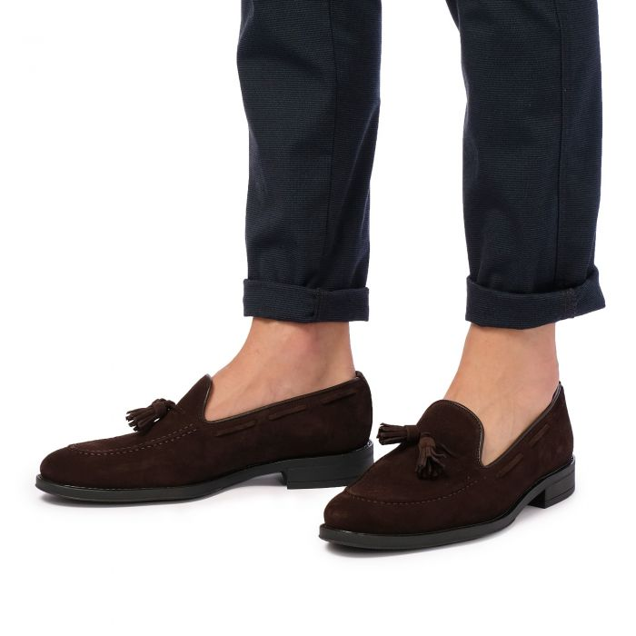 Image for Brown leather moccasins