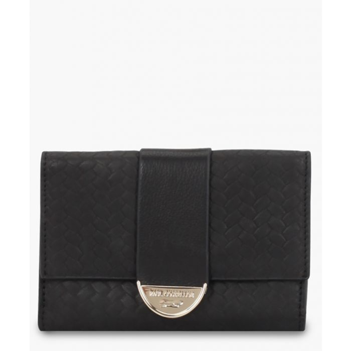 Image for Caspin black leather purse