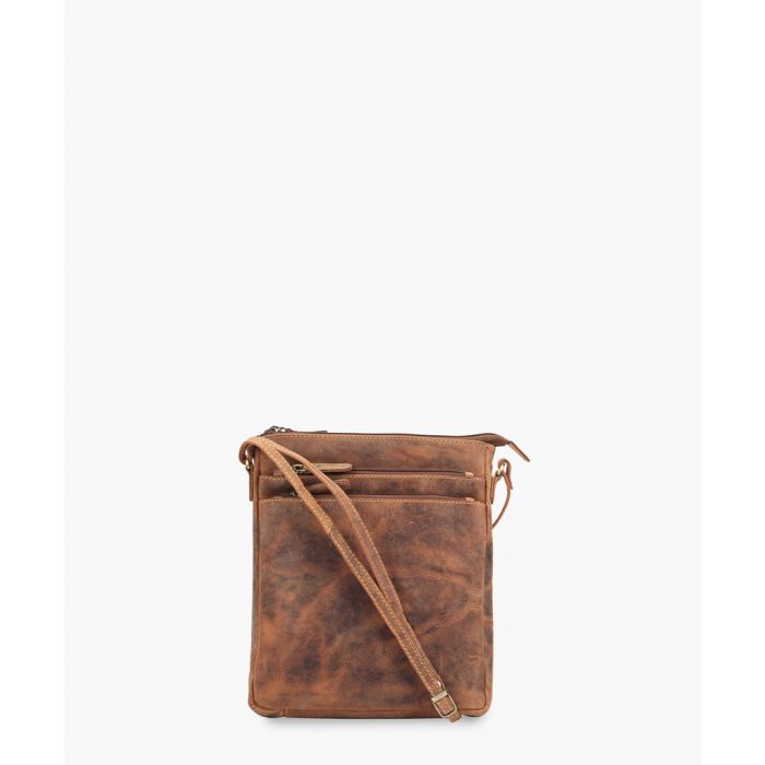 Image for Brown leather crossbody