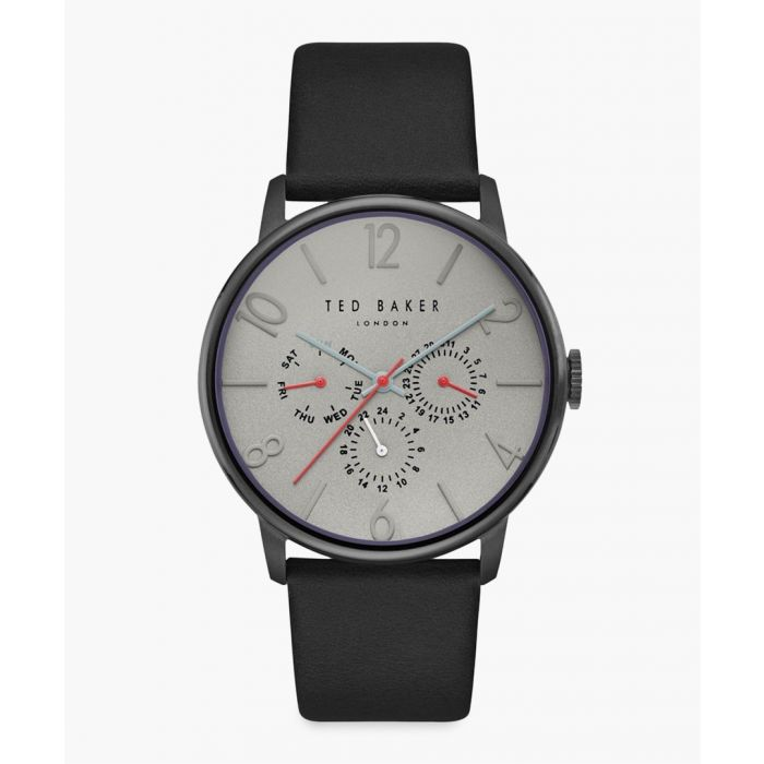Image for James leather and stainless steel watch