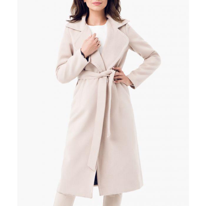 Image for Beige wool blend coat