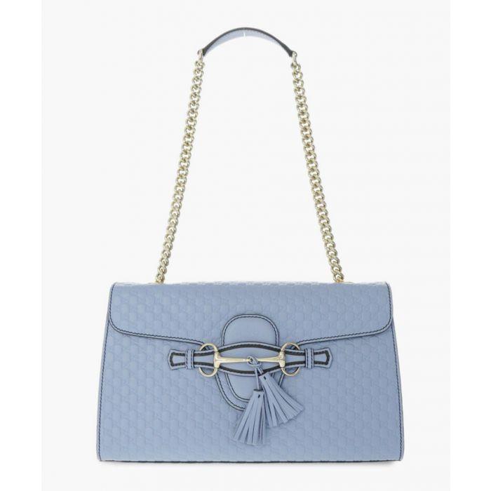 Image for Emily light blue Guccissima leather shoulder bag