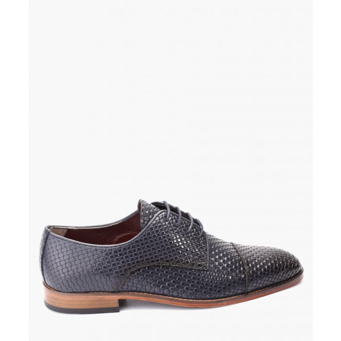 Image for Blue leather Oxford shoes