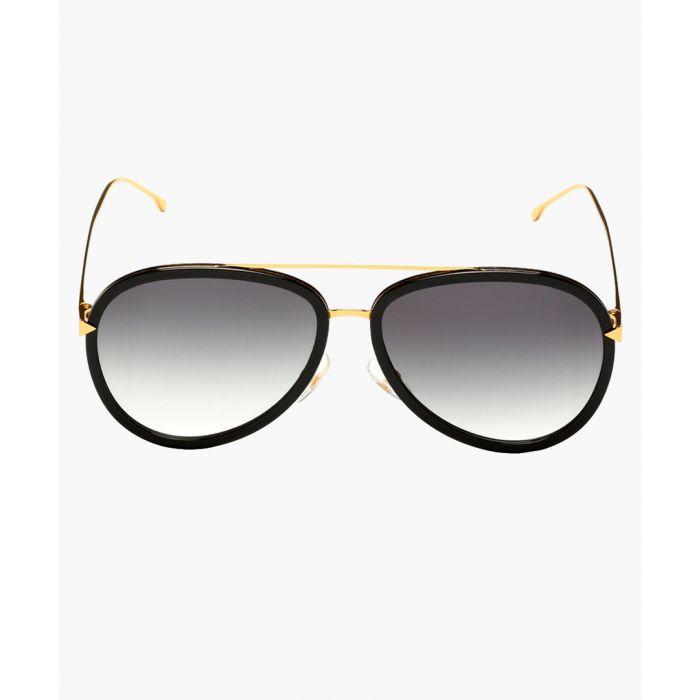 Image for Fendi SUNGLASSES BLK YELLOW GOLD / GRAY GRADIENT