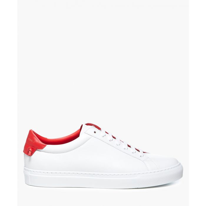 Image for Urban Street white leather trainers