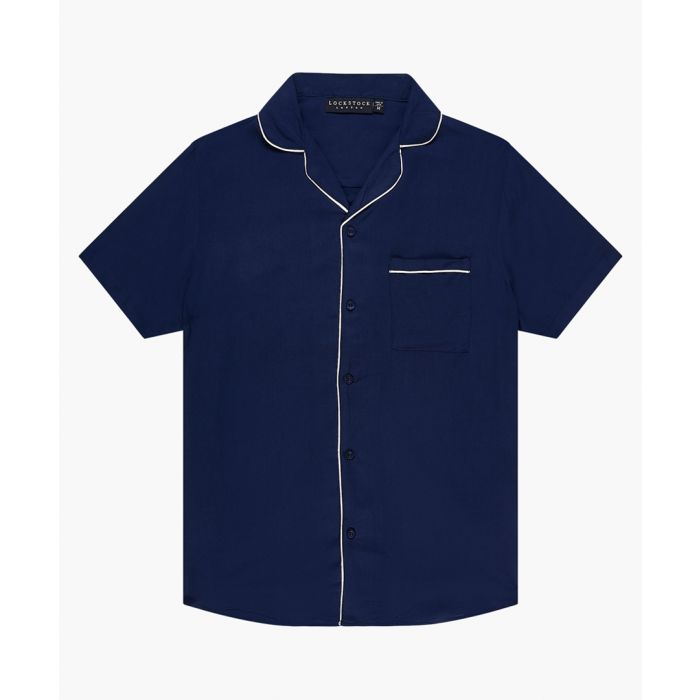 Image for Navy pyjama shirt