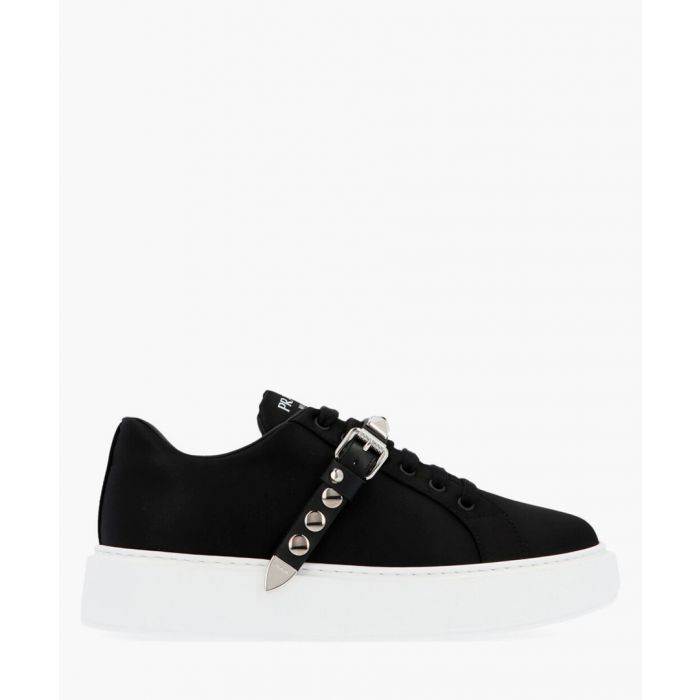 Image for Black buckle trainers