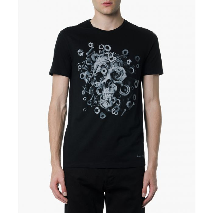Image for Black cotton skull T-shirt