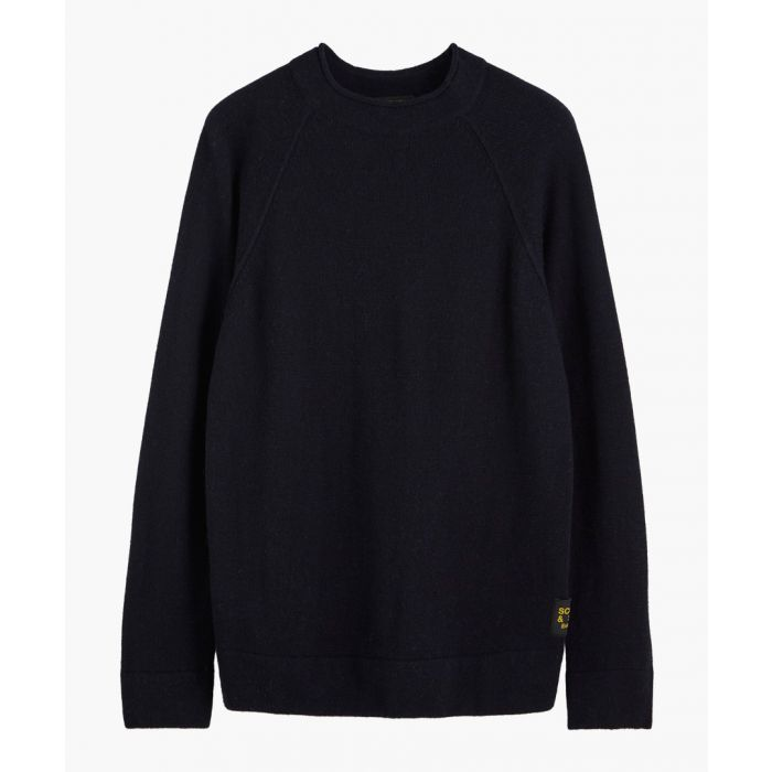 Image for Night blue wool-blend jumper