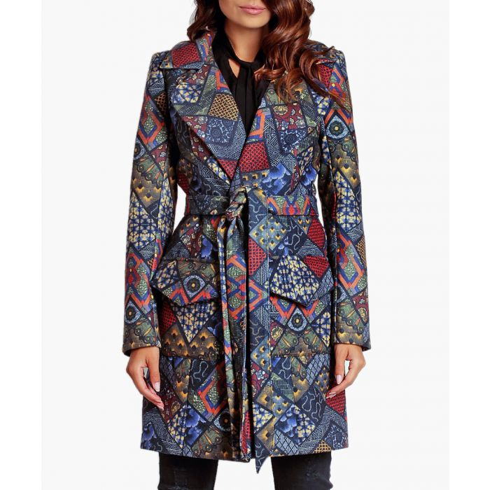 Image for Boho wool blend coat