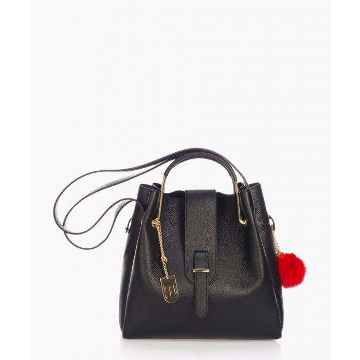 Image for Bagni black leather bucket bag