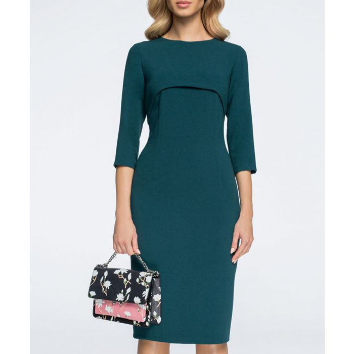 Image for Teal half sleeve contour dress