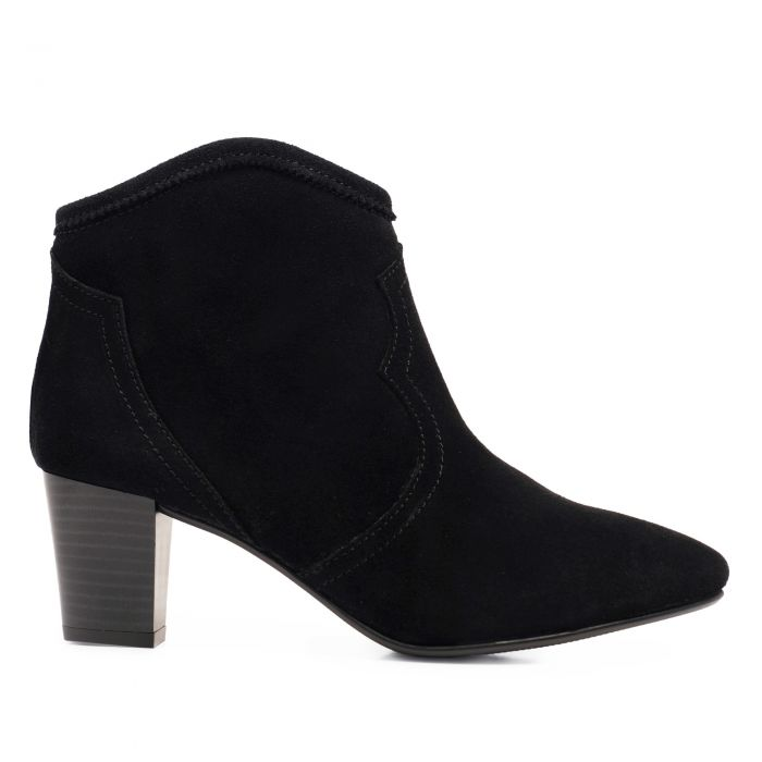 Image for Womens black leather boots