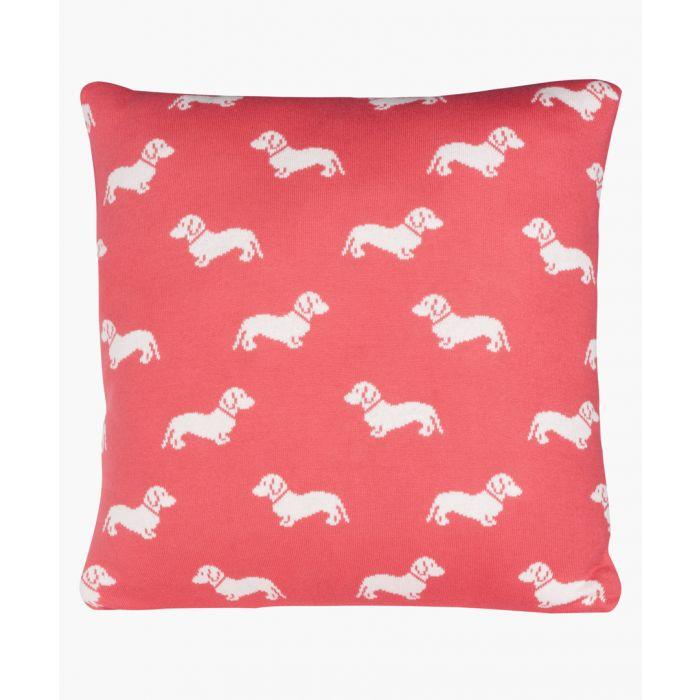 Image for Dachshund pink cushion