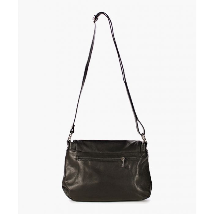 Image for Signature black leather crossbody