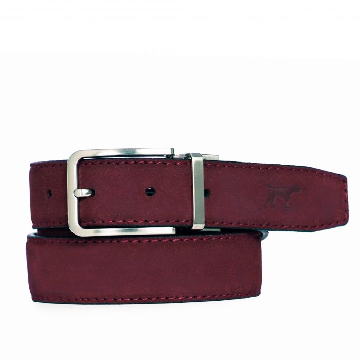 Image for Burgundy leather belt